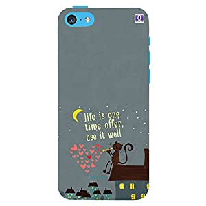 Life Is One Time Offer Use It well - Mobile Back Case Cover For Apple Iphone 5C