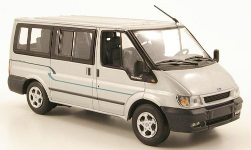 Preisvergleich Produktbild Ford Transit Bus Euroline, silber, 2000, Modellauto, Fertigmodell, Minichamps 1:43