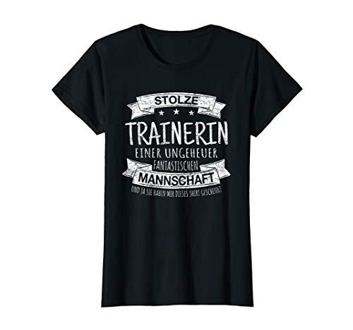 Damen STOLZE TRAINERIN Spruch Handball Volleyball Vintage Geschenk T-Shirt