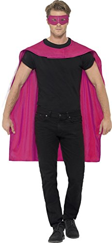 Smiffy 's - Conjunto de máscara y capa unisex, rosa