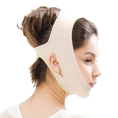 CY Face-Lifting-Bandage, Verbesserte Kosmetische Postoperative Doppelkinn-Gesichtsdruckmaske, Straffende V-Face-Artefakthaut (Size : XXL)