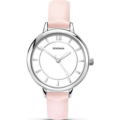 Edizioni Sekonda quadrante bianco, rosa chiaro, colore 2506