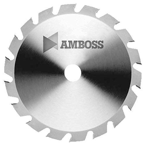 Amboss - HM Kreissägeblatt - NAGELFEST - Ø 500 mm x 4,2 mm x 30 mm | für extremen Einsatz auf Baustellen | Flachzahn mit Fase (36 Zähne) | Kombinebenlöcher