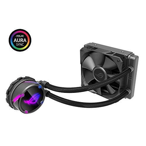 ROG Strix Cooler CPU All-in-One ROG mit externer Beleuchtung RGB, Aura sync, NCVM Pumpe und ROG Kühlventilator 1x ROG Fan 120 mm