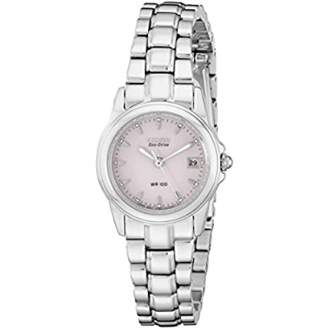 Eco-Drive Stainless Steel Silhouette Pink Dial - Citizen Eco Drive Silhouette