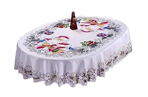 Sehr Weihnachten Attraktive Tischdecke Owal Santa Claus Farbe: Mehrfarbig, multi, 150 x 300 cm , 59
