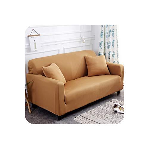 Love every day Plain Elastic Stretch Sofabezüge PolyesterSpandex Stoff Arm Couch Sofa Slipcover Abdeckhaube Single/Zwei/DREI/Vier-Sitzer, 1 mm, Vier Seater 1pcs -