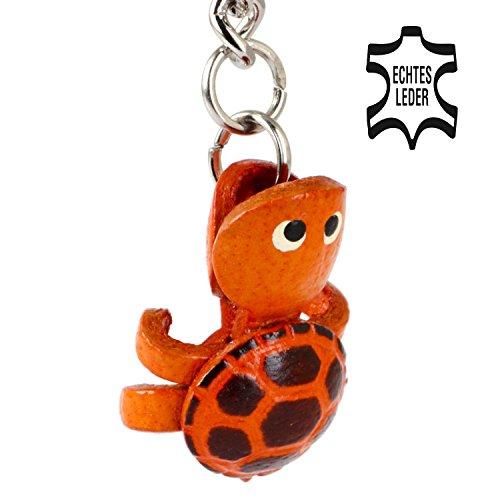 Monkimau Schildkröte Schlüsselanhänger Deko-Figur Charm-s Leder Kategorie Stofftier/Plueschtier/Kuscheltier Bester Freund. Immer dabei! - ca. 2cm, jeweils 1 Stück (braun klein)