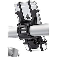 Matone Porta Cellulare Bici, Supporto Bici Smartphone, Manubrio Universale Bici Moto MTB per iPhone X /Xs/ 6 / 6s Samsung Galaxy S9/S8 Plus e altri dispositivi Elettronici per 4.5-6.0 pollici (Nero)