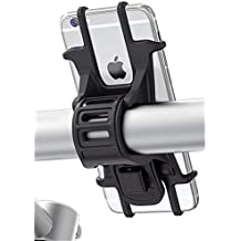 MATONE Porta Cellulare Bici, Supporto Bici Smartphone, Manubrio Universale Bici Moto MTB per iPhone X/6/6s Samsung Galaxy S9/S8 Plus e altri dispositivi Elettronici per 4.5-6.0 pollici (Nero)