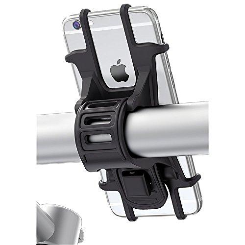 """Bovon Soporte Movil Bicicleta, Soporte Universal Manillar de Silicona para Bicicleta de montaña y Motocicleta, Soporte para iPhone X 6 7 8 Plus, Samsung Galaxy S9 S8 Plus y 4.5""""-6.0"""" Smartphones"""