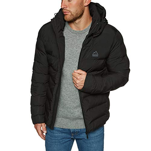 Superdry Echo Quilt Puffer Jacket Medium Black