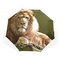 Umbrella Customize 3 Folds Lion Animal Windproof Anti-UV Lightweight