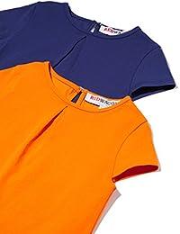 RED WAGON Shirt con Pinces allo Scollo Bambina (Pacco da 2)