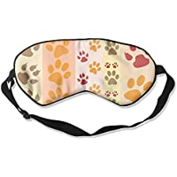 Sleep Eye Mask Paw Prints Fun Lightweight Soft Blindfold Adjustable Head Strap Eyeshade Travel Eyepatch preisvergleich bei billige-tabletten.eu