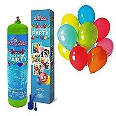 Idea Regalo - eliumStar - Bombola di gas elio per palloncini con 420 litri per gonfiare fino a 50 palloncini, per feste e diverse occasioni
