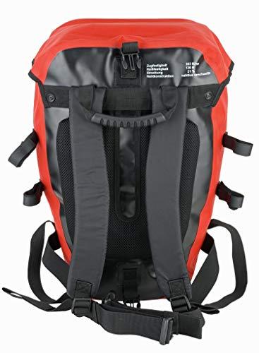Red Loon Pro 3er Set Packtasche rot/schwarz LKW-Plane 2 Hecktaschen 1 Rucksack Gepäckträger