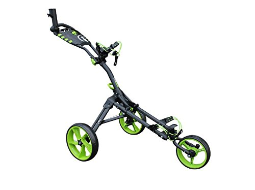 Cover Buggy Cart (Icart 'Kalesche' One Compact 3-Rad Push Trolley mit Hi-Tech Kompaktes Design, extra breiter Radstand und eine super schnell faltbar Mechanik, Grey/Green/White)