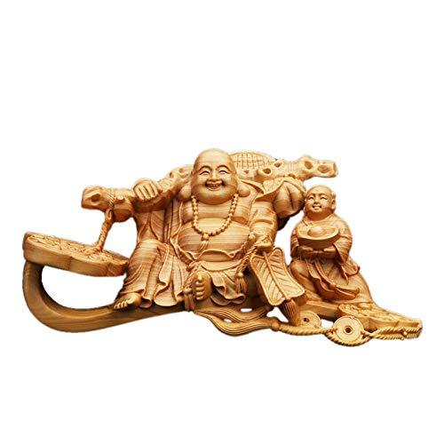 Figur,Statue,Statuen,Statuette,Skulpturen,Buddha,Buchsbaum Handwerk Sitzen Auf Dem Wunschdenken Maitreya Buddha Statue Für Wohnzimmer Schlafzimmer Home Tempel Angebote Carving Zen Kunst Dekoration