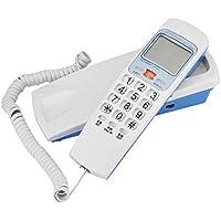Richer-R Wandtelefon Schnurtelefon, Schnurgebundenes Telefon FSK/DTMF Anrufer ID Telefon Kompakttelefon,Schnurgebundenes Analog Telefon für Hause Büro 4 Farben(White)