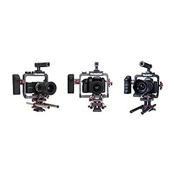 Rolleiflex 4K S-Cage High End Cage for Sony Alpha A7/A7S/A7II/A7R, Panasonic GH4/GH3 and Blackmagic Design Pocket Cinema Camera - Black