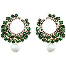 Zaveri Pearls Pearl Dangle & Drop Earring For Women Green - Zpfk836