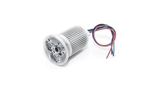 Strahler led RGB 3W spot 12v 50mm Licht Lampe synchronisierbare dmx Höhe 60mm