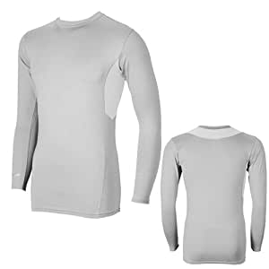 Men Sportswear - Cricket Inner / Rash Guard (Full Sleeves) - Curved Patch and Chain Stitched Patch On Neck Full Sleeves