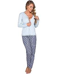 Italian Fashion IF Women's Maternity Pyjama Hydrangea 0223