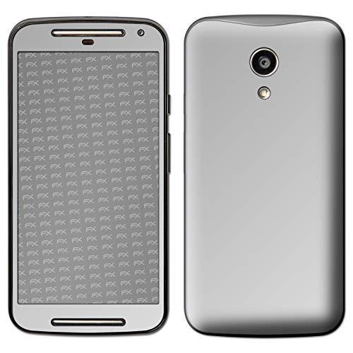 atFolix Skin kompatibel mit Motorola Moto G 2. Generation 2014, Designfolie Sticker (FX-Chrome-Soft-Silver), Verchromt/Chrom/Glanz-Effekt