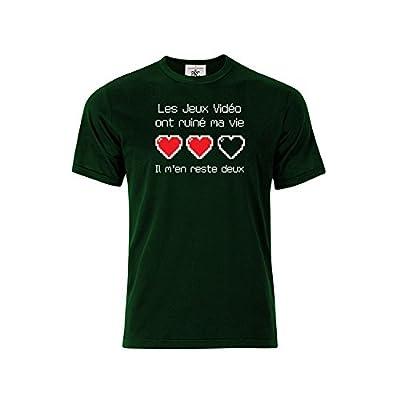 T-shirt col rond Homme les jeux vidéo ont ruiné ma vie