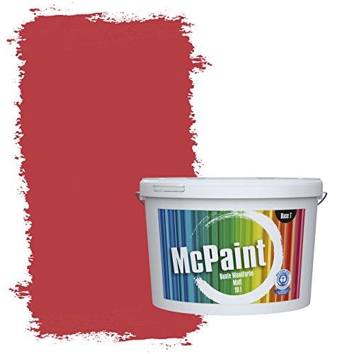 McPaint Bunte Wandfarbe Feuerrot - 5 Liter - Weitere Rote Farbtöne Erhältlich - Weitere Größen Verfügbar