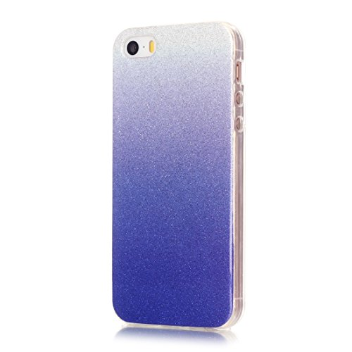 iPhone Case Cover Pour iPhone 5 & 5s & SE IMD Couleurs Fades Glitter Poudre TPU Étui de protection ( SKU : IP5G9966C ) IP5G9966H