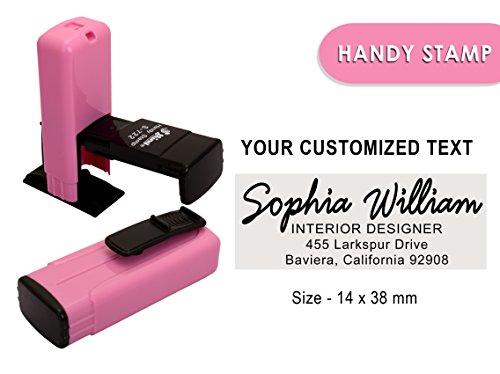 Shiny s-722self inchiostrazione timbro personalizzato personalizzato testo ufficio timbro 14x 38mm 14 x 38 MM Black Ink
