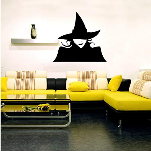 Asade Happy Halloween Home Household Room Wall Sticker Mural Decor Decal Removable New Black Witch Halloween Wall Sticker DIY