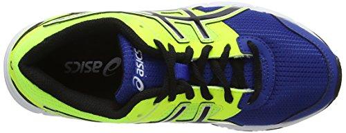 Asics Gel-galaxy 8 Gs, Chaussures de Running Entrainement Mixte enfant Bleu (Blue/Black/Flash Yellow 4290)