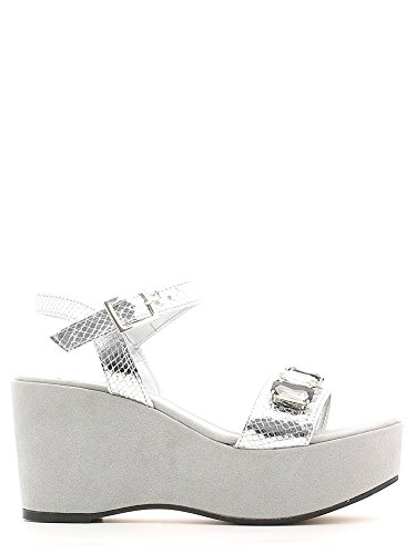 Grace shoes 1605F3 Sandalo zeppa Donna Argento 35