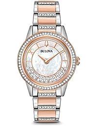 Bulova Reloj Análogo clásico para Mujer de Cuarzo con Correa en Acero  Inoxidable 98L246 7e2d34ae9e28