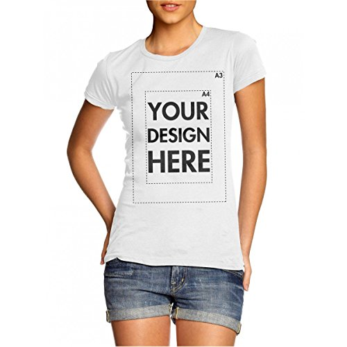 Create Your Own Custom Personalised Womens T Shirt! Any Text, Any Photo, Up to 14