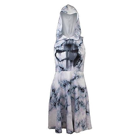 Star Wars Juniors Stormtrooper Marble Print Hoodie Dress (X-Large)