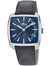 Lotus Watches Reloj Análogo clásico para Hombre de Cuarzo con Correa en Cuero ...