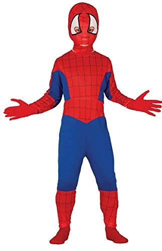 Piccoli monelli costume uomo ragno bambino 9 10 anni vestito spider man bimbo di carnevale altezza da spalla a terra 120 cm