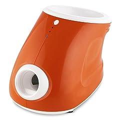 Idea Regalo - oneConcept Ballyhoo • Macchina Lanciapalline • Dispositivo per Addestramento Cani • Lanciapalline per Cani • Ambienti Interni ed Esterni • Batteria ed Alimentazione • 3 Livelli di Distanza • Arancione