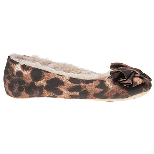 Ruby And Ed Wildcat Ballerina Femme Chaussons Marron Marron