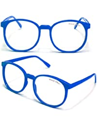 WOODY Nerdbrille Grosse Gläser (Blau)