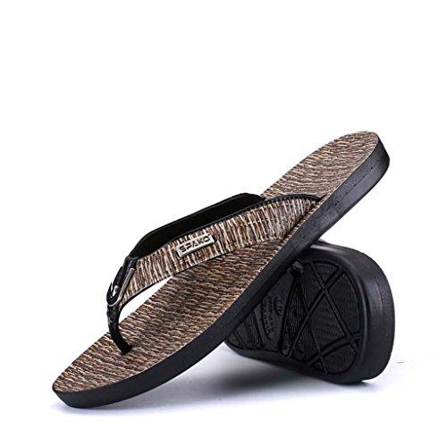 ZXCV Scarpe all'aperto I sandali estivi degli uomini flip flops sandali scarpe da uomo Grigio scuro
