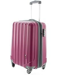 100% ABS Hartschalen Koffer / Trolley mit 4 Rollen und Zahlenschloss 3 Farben, Pianeta Serie Ibiza