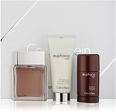 CK EUPHORIA MEN EDT 100 ML + DEO STICK 75 ML + A/SHAVE BALM 100 ML SET REGALO