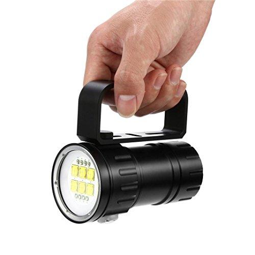 Torche Led Rechargeable zycShang Led Lampe De Poche Puissante Lampe Torche De Plongée De Photographie De 80m LED Lampe Torche ImperméAble De Lampe De PlongéE Sous-Marine D'IPX8