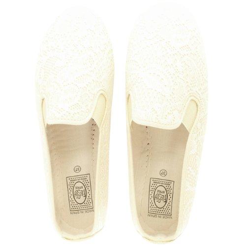 Femmes Kung-Fu Flossy Lodosa Enfiler Dentelle Espadrille Eté Chaussures Beige